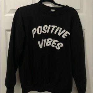 Black Positive Vibes Crewneck